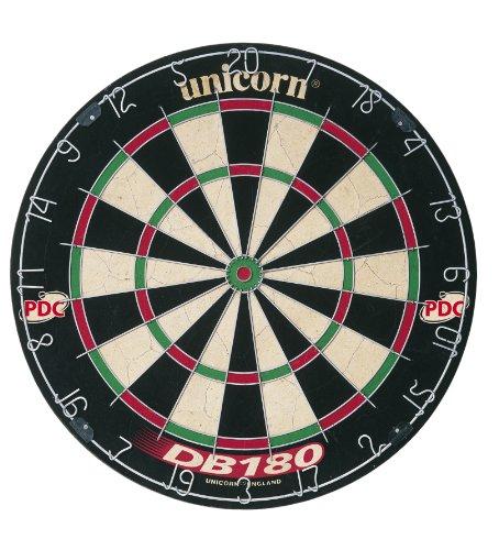 Unicorn - DB 108, Tabellone per freccette, colore: Nero/Bianco/Rosso/Verde