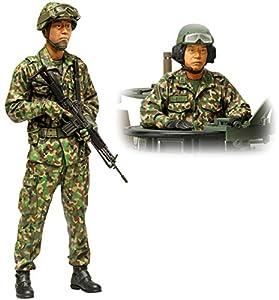 Dickie - Tamiya 300036316 - plástico a escala 1: 16 figurines JGSDF Char ocupación, 2