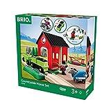 BRIO World 33790 - Pferde Bahn Spiel Set, Bauernhof Tiere