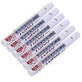 INHDBOX 6 Pcs Reifenmarker 2 - 4 mm Reifenmarkierungsstift Reifen Stift Weiß