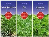 De Bolster Bio Samen | Kräuter Klassiker | Züchten Sie sich Ihre eigenen Küchenkräuter | 3 Packungen Saatgut