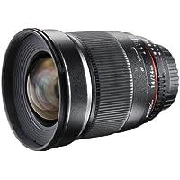 Walimex Pro 24 mm 1:1,5 VDSLR Foto/Videoobjektiv für Pentax K Objektivbajonett schwarz (manueller Fokus, für Vollformat Sensor gerechnet, Filterdurchmesser 77mm, stufenlose Blendeneinstellung)