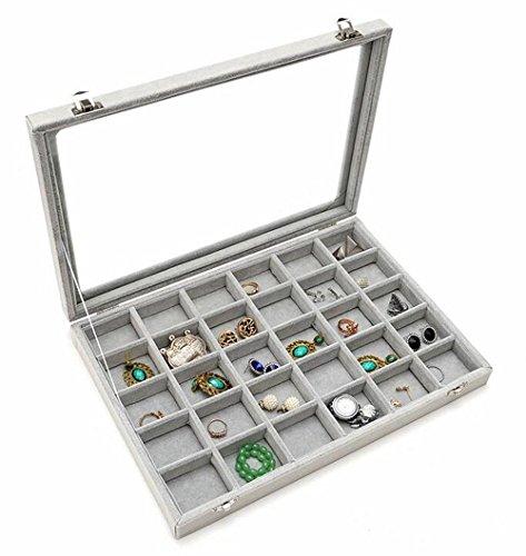 Zice - Caja de joyería de terciopelo para joyas