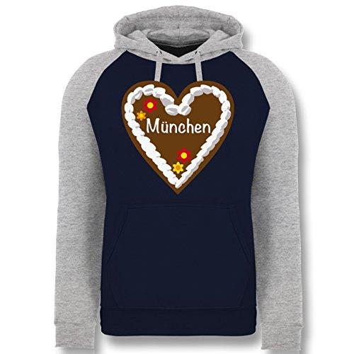 oktoberfest-damen-lebkuchenherz-munchen-l-navy-blau-grau-meliert-jh009-cooler-unisex-baseball-hoodie