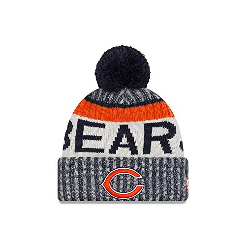 New Era NFL CHICAGO BEARS Authentic 2017 Sideline Bobble Knit