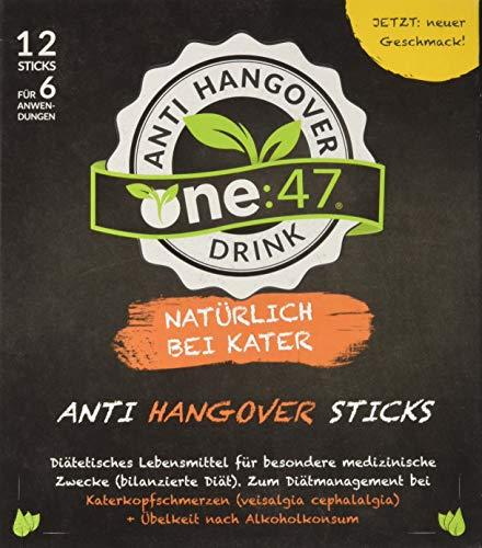 one:47 ® After Party Drink | 12 Sticks | Feel good next day | Die originale geschützte one 47 Formel