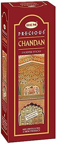 Hem Precious Chandan Incense Sticks(9.3 cm X 6.0 cm X 25.5cm, Black)