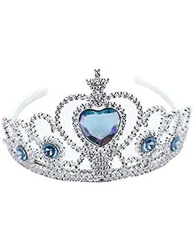 wlgreatsp Niñas Niños Cosplay Cristal corona de princesa Pelo vestido Traje Magic elsa Frozen Navidad Regalos...