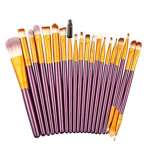 DaySing Brosse Kit De Pinceau Maquillage Professionnel20Pcs Pinceaux De Maquillage Poudre Base Fard à PaupièRes Pinceau CosméTique LèVre Pinceau à LèVre avec Sac Nois