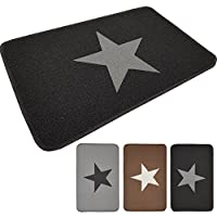 Floor Mat Star from proheim 50 x 80 cm - Floor Mat Made of Cotton and Rubber - Durable and Robust