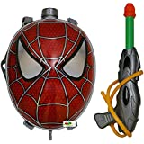 Toyshine Startoys Holi Water Gun with High Pressure, Back Holding Tank, 3.0 L, Spiderman Face