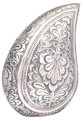 UrnsWithLove, urna per cremazione in Alluminio a Forma di Goccia, per Ceneri Nero e Argento, Fornitore del Regno Unito