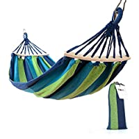 Beneyond Outdoor Recreation, Single Swing, Canvas Hammock, Widening and Thickening, Camping Supplies. (Blue)