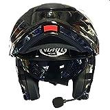 VCAN V271Modularer Motorrad-Helm mit Bluetooth, Klapp-Helm Gr. XL, Blitz-Muster