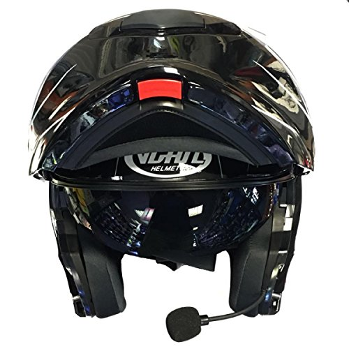 VCAN V271Modularer Motorrad-Helm mit Bluetooth, Klapp-Helm Gr. L, Blitz-Muster