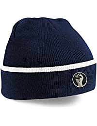 Northern Soul Keep The Faith Fist Embroidered Knitted Beanie Hat