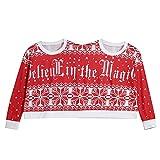 TEBAISE Christmas Sweater Zwei Personen Pullover Unisex Paare Pullover Neuheit Weihnachten Bluse Top Shirt