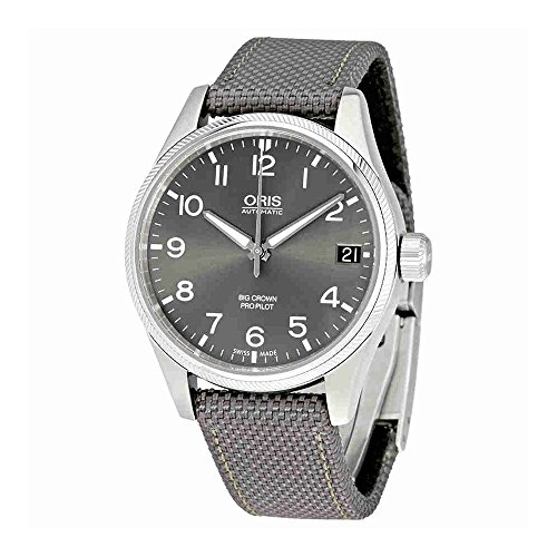 Oris Big Crown Propilot gris Dial Automático Mens Reloj 751–7697–4063gyfs