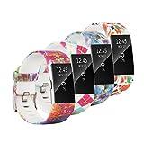 Fit-power Armbänder für Fitbit Charge 2, weich, verstellbar, für Sport und Freizeit, 2 Größen L Pack of 4B