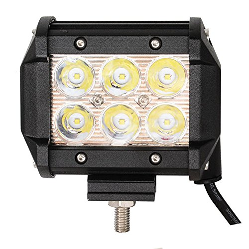 FUSKANG 18W LED Auto-Arbeits-Licht, wasserdichte Dach-Lichter Inspektions-Lichter Off-Road-Lichter Strand-Lichter Scheinwerfer-Nebel-Lichter Schwarzes Fahrlicht ( Color : 1pcs )