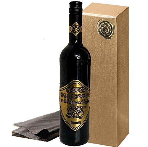 Luxus Geschenk für Rotwein-Liebhaber   Belle Epoque á la Maison Laufèr   im Eichenholzfass gereift   gold Box   für verwöhnte Weinkenner   Weihnachten   Geschenkset Frankreich Italien