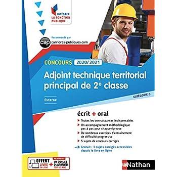 Concours adjoint technique territorial principal de 2e classe externe : Catégorie C. Ecrit + oral