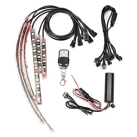 XCSOURCE 6Pcs Lampe Motocyclette Voiture RGB LED Lumière de Lueur de Cadre de Hachoir Flexible Néon 5050 SMD Bandes Multicolores MA1182