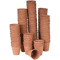 50 Macetas cultivo aproximadamente ø 6 cm, biodegradables biodegradable 92003