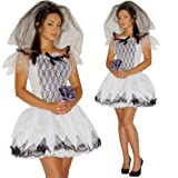 Maylynn 13705 - Kostüm Zombie Braut, 3-teilig, Gr. S