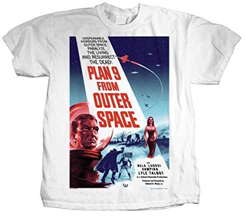 Plastichead - Herren-Plan 9 T-Shirt White