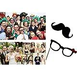 ZOGIN Kit de Accesorios Photocalls Máscaras Disfrazadas de Mascarada con Bigotes, Labios, Corbatas, Gafas y Sombreros Para Fiesta Mascarada, Fiesta de Navidad, Bodas, Aniversarios, Cumpleaños - 58 Piezas