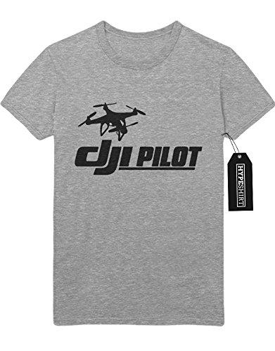 """T-Shirt Drones """"DJI PILOT"""" H970032 Grau"""