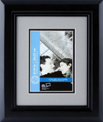 Pinnacle Frames and Accents Gallery Solutions Holzrahmen 8x10 schwarz
