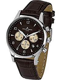 Jacques Lemans Herren-Armbanduhr XL london classic Chronograph Quarz Leder 1-1654D