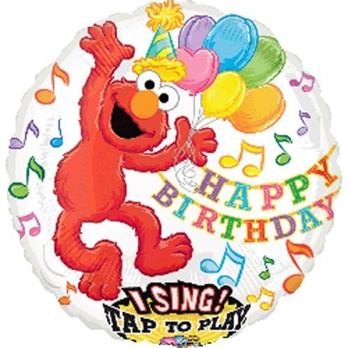 Single Source Party Supplies - 28 Singing Elmo Birthday Mylar Foil Balloon by Single Source Party ()
