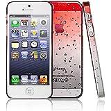 SHOP4PHONE® - Coque housse étui goutte de pluie pour iPhone 5/5s Rouge