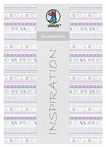 Ursus 62344602F Diseño de cartón, mi Bautizo, niña, 200g/m2, DIN A4, 25Hojas, diseño 2