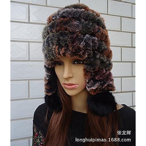 JSGN-Ladies maglia invernale imbottito casco,sette colori