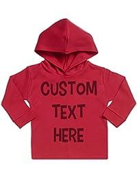 Spoilt Rotten Persönlicher Custom Text Here Baby Persönlicher Weicher Kapuzenpully Pullover - Individualisierter Baby Geschenkset - Persönlicher Babybekleidung