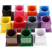 7986a0306cff Sharplace Montessori Sensoriel 11 Porte-Crayons de Couleur en Bois Jouet  Education Précoce Bébé Enfant