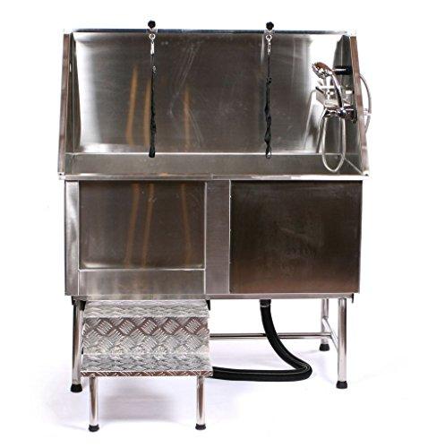 Pedigroom Professional Large Stainless Steel Dog Grooming Bath Tub Bathtub 128cm
