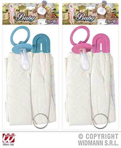 Fancy Kostüm Baby Dress Adult - Adult Baby - Windel und Dummy Set - Pink