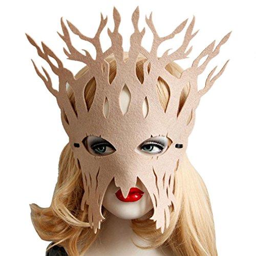 WOCACHI Party Masken reizvolles elegante geheimnisvolle Gesichtsmaske für Maskerade Ball Karneval Fantasie Party (27*22cm, (Kostüme Sexy Party Stadt Halloween)