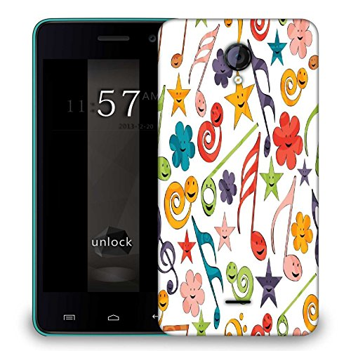 Snoogg Smiley Strings Designer Protective Phone Back Case Cover For Micromax A106 Unite 2  available at amazon for Rs.299