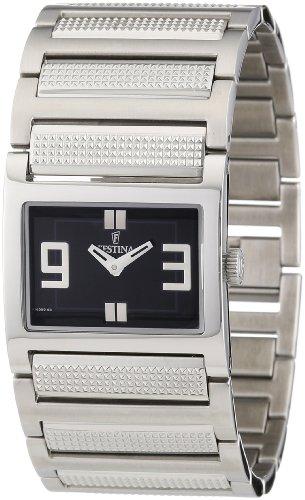 Festina Trend F16359/3 - Reloj analógico de cuarzo para mujer, correa de acero inoxidable color plateado