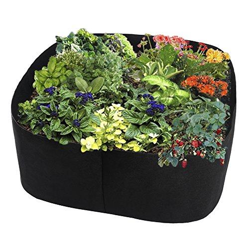 Wuxi Chuannan Grow Taschen, Garden Bett Pflanzen Container, Atmungsaktiv Filz Stoff Pflanzgefäß Topf für Pflanzen, Blumen, Gemüse (Blumen-bett-tasche)