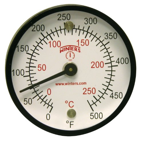 Winters TMT Series Steel Dual scale Surface Magnet Thermometer, 2