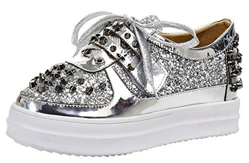 EOZY Damen Halbschuhe Casual Schnürhalbschuhe Low-Top Schuhe