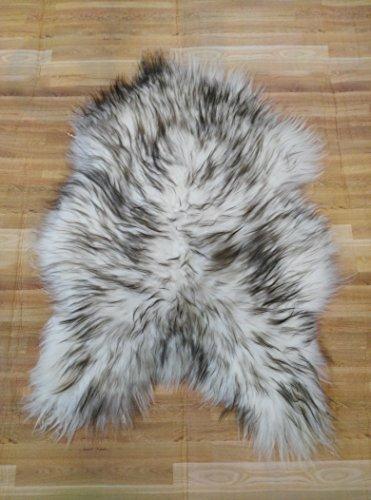 Zerimar Alfombra piel de cordero islandés Medidas: 95x80 cms 100% Natural Ideal para la decoración
