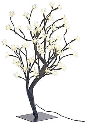 Lunartec LED Lichterbäume: LED-Baum mit 64 beleuchteten Blüten, 45 cm, IP44, für innen & außen (LED Kirschbaum)